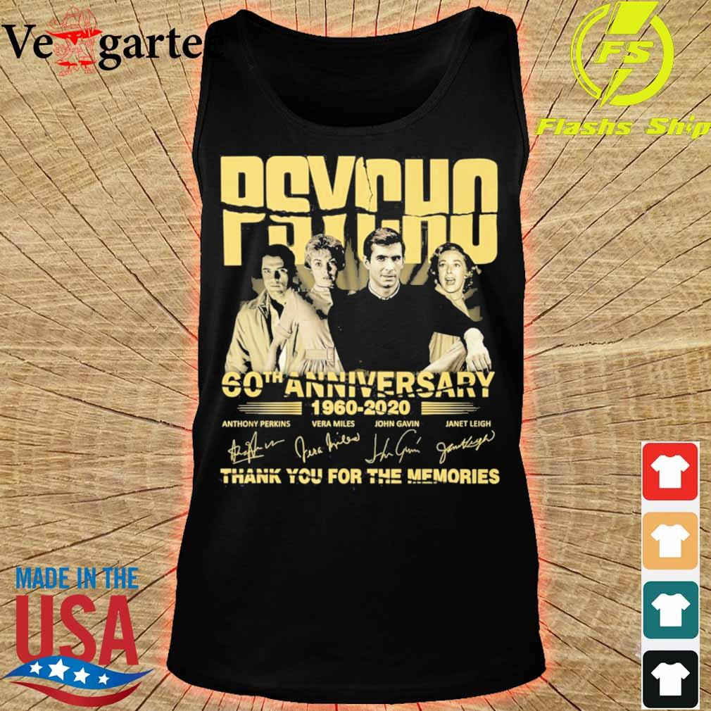 PSYCHO 60th anniversary 1960 2020 thank you for the memories signature s tank top