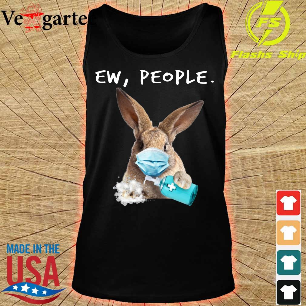 Rabbit face mask Ew People s tank top