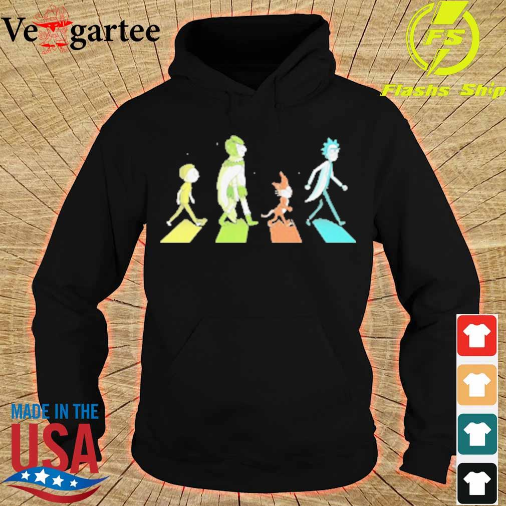 Rick and morty characters abbey road s hoodie
