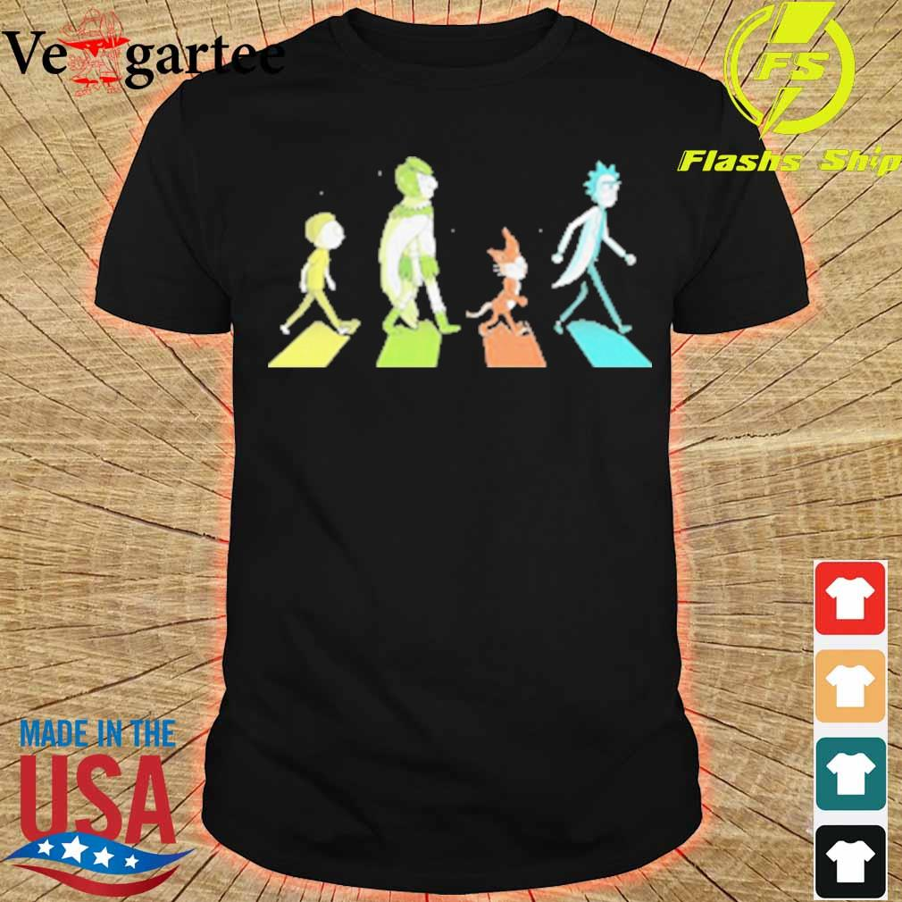 Rick and morty characters abbey road shirt