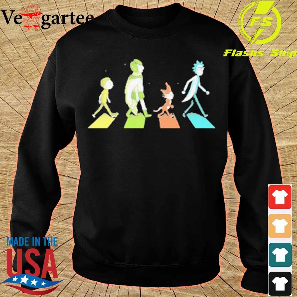Rick and morty characters abbey road s sweater
