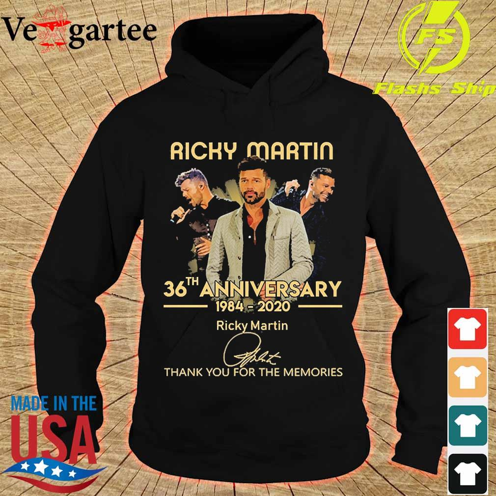 Ricky Martin 36th anniversary 1984 2020 thank You for the memories signature s hoodie