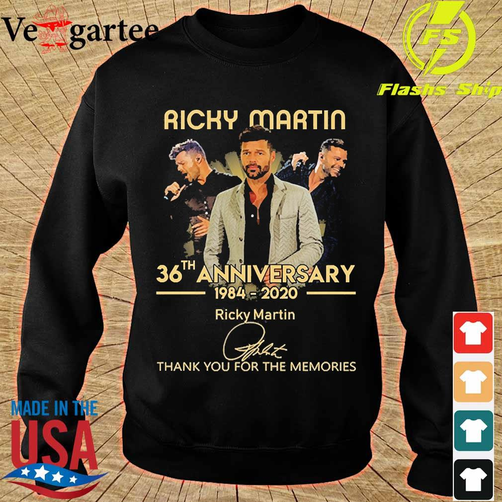 Ricky Martin 36th anniversary 1984 2020 thank You for the memories signature s sweater