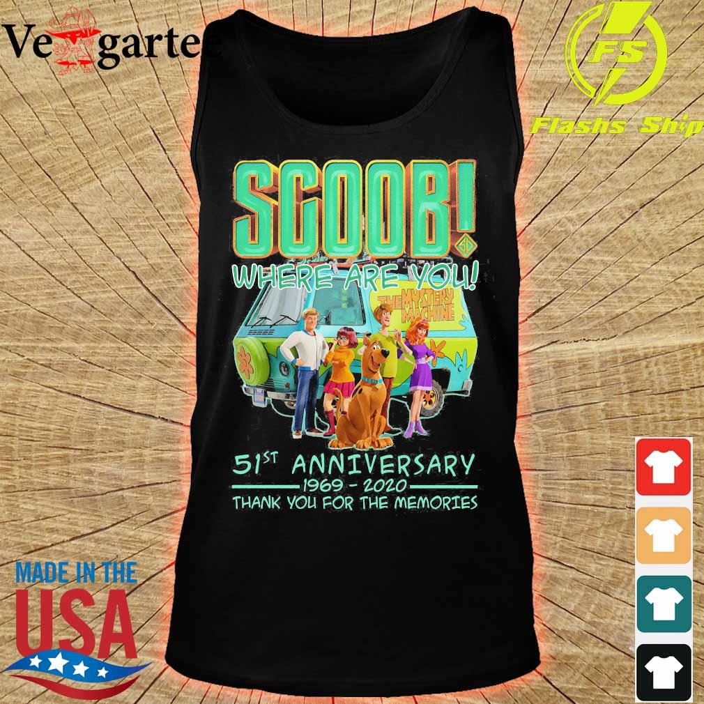 Scoob where are You 51st anniversary 1969 2020 thank You for the memories s tank top