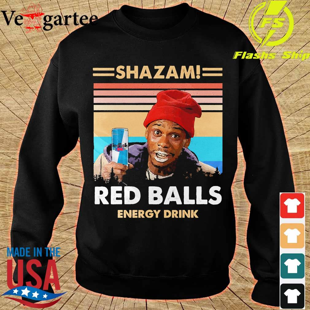 Shazam red balls energy drink vintage s sweater