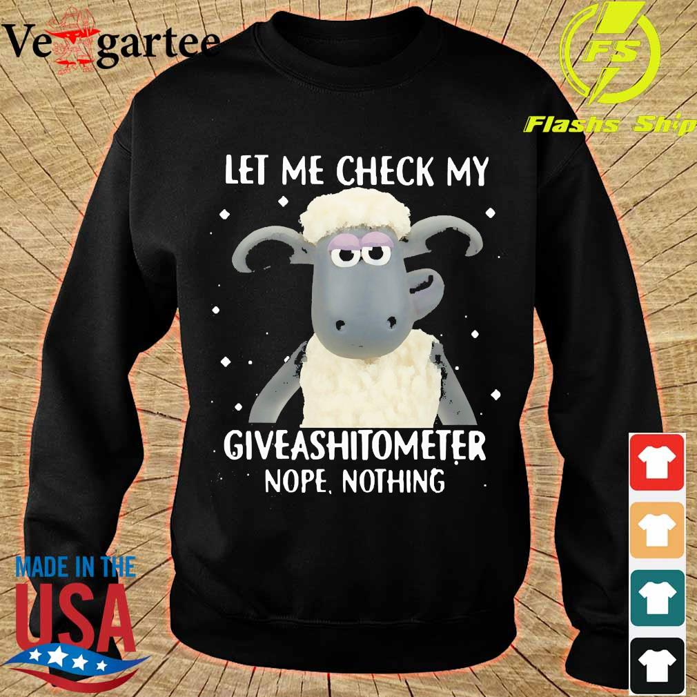 sheep let me check my giveashitometer nope nothing s sweater