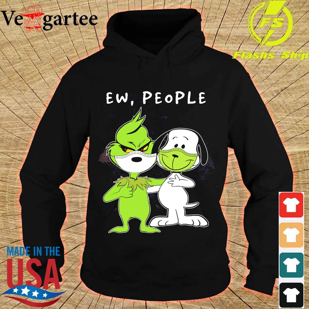 Snoopy and Grinch face mask ew people s hoodie