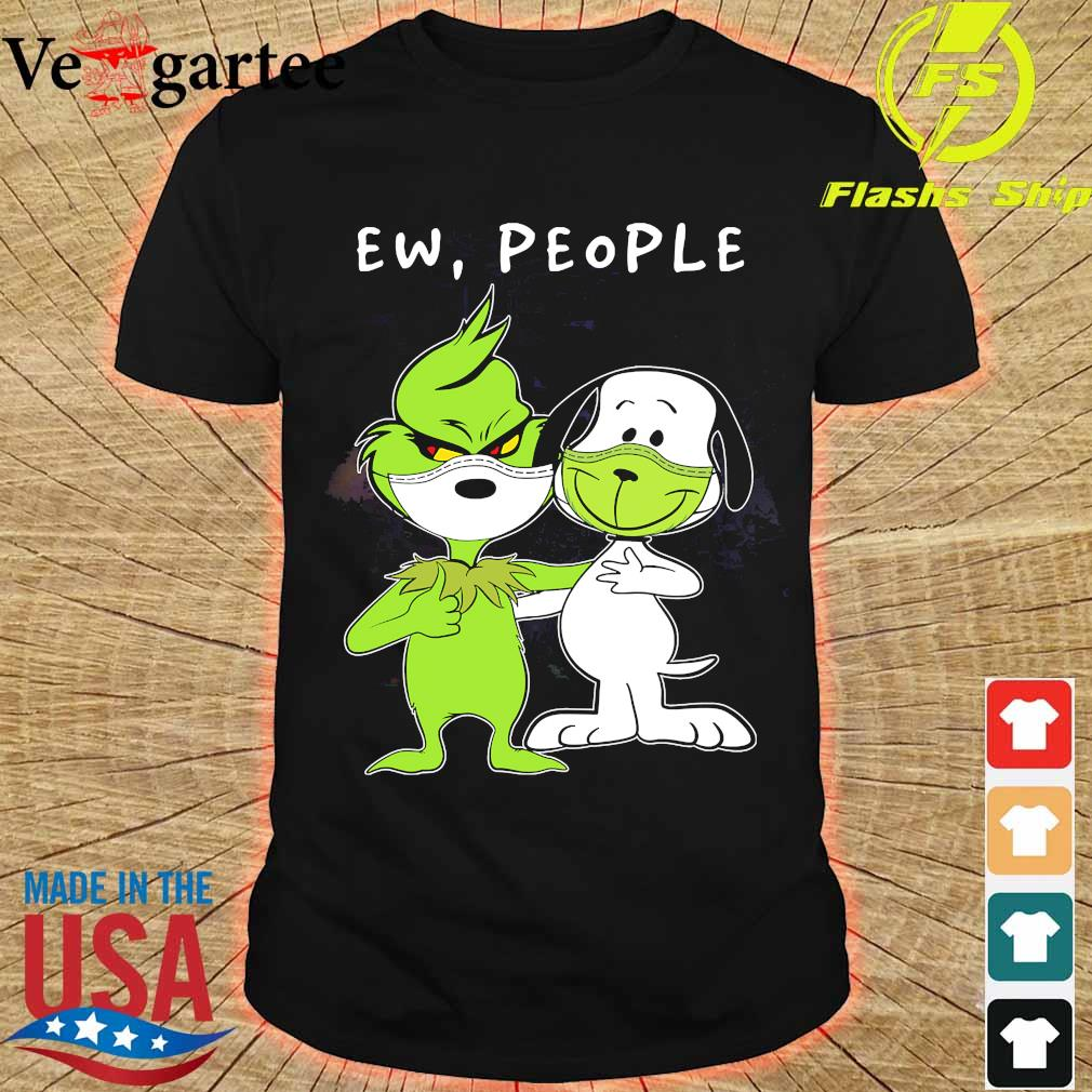 Snoopy and Grinch face mask ew people shirt
