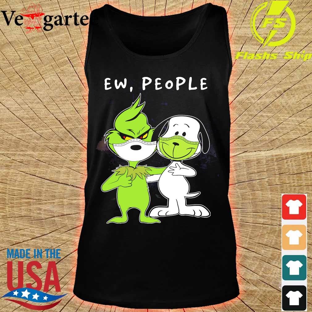 Snoopy and Grinch face mask ew people s tank top