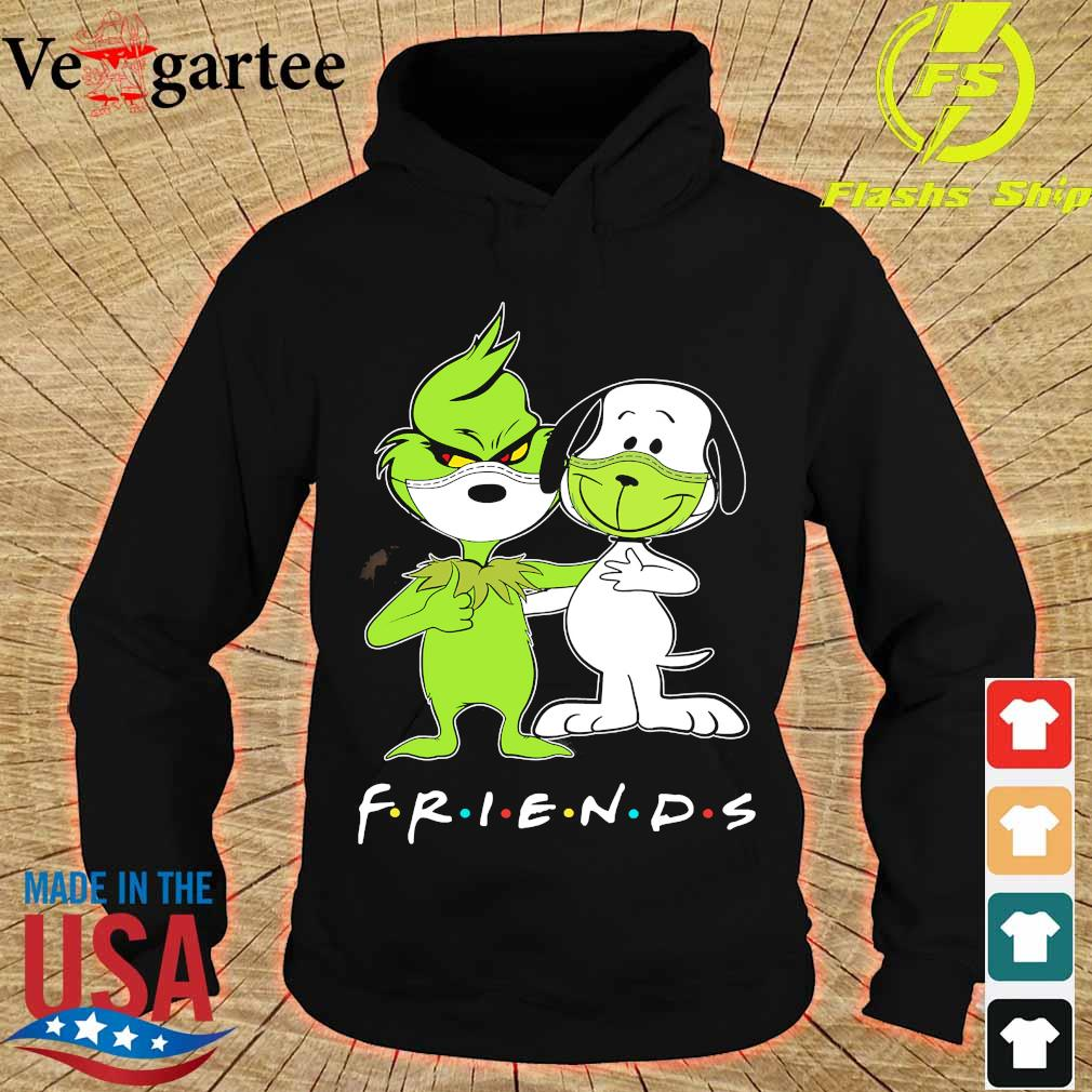 Snoopy and Grinch face mask friends s hoodie
