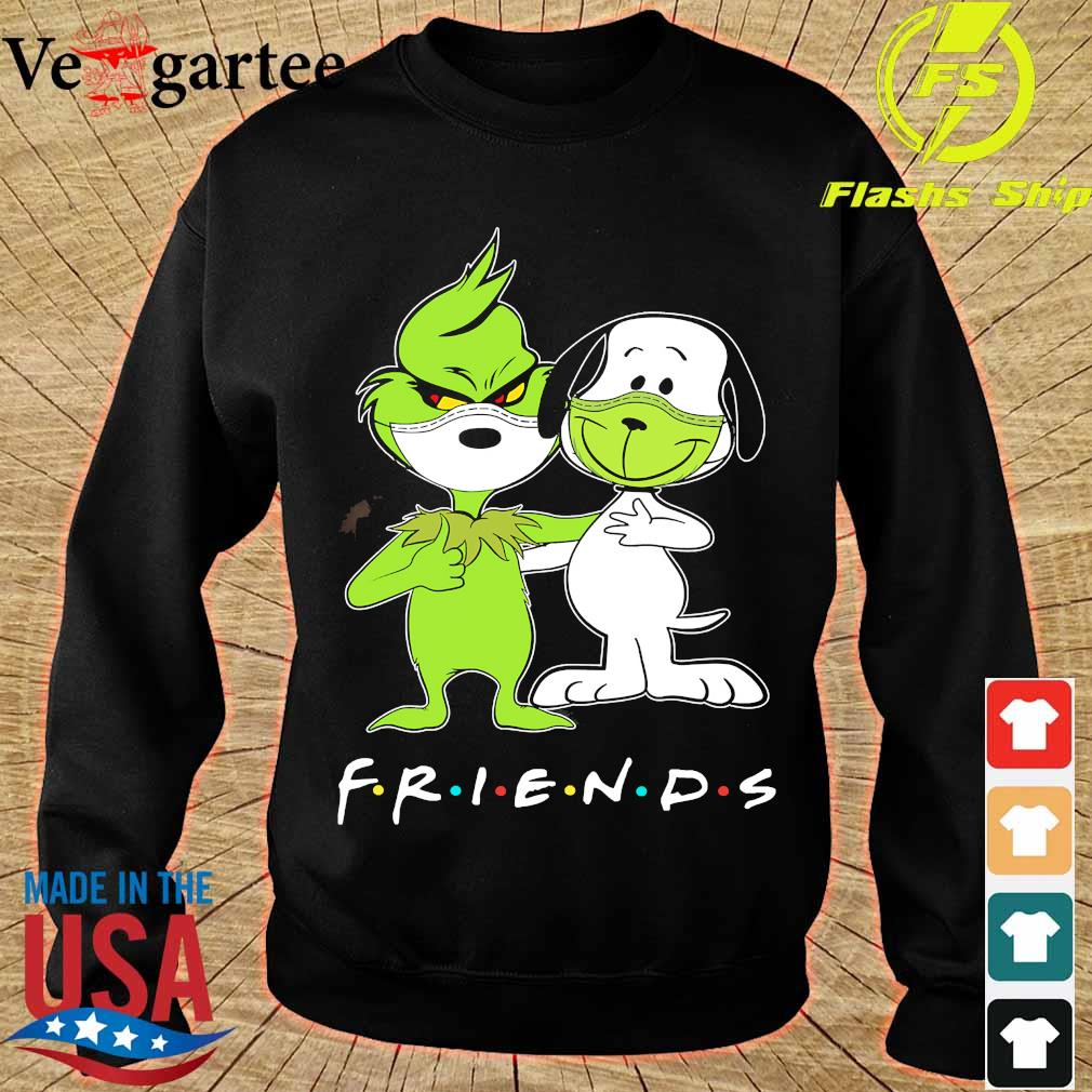 Snoopy and Grinch face mask friends s sweater