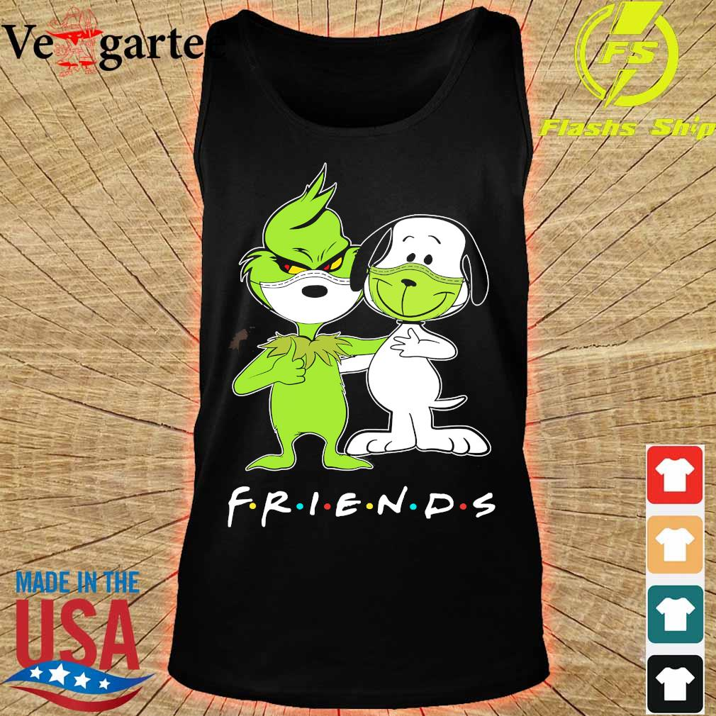 Snoopy and Grinch face mask friends s tank top