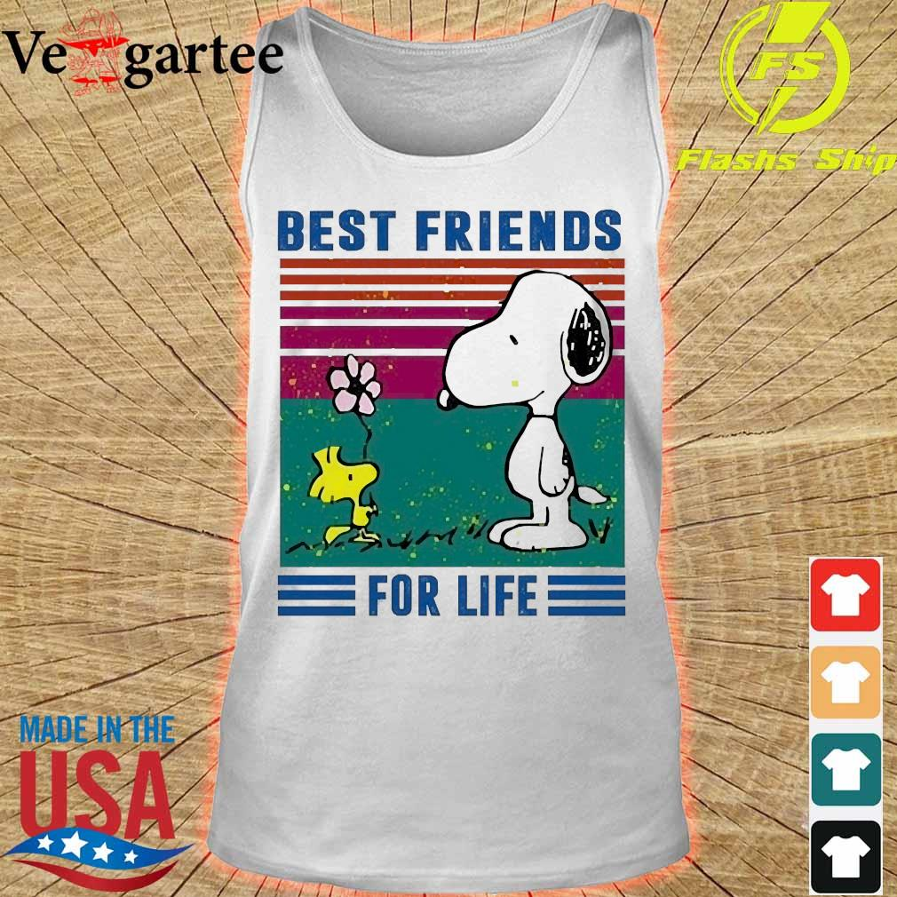 Snoopy and Woodstock best friends for life vintage s tank top