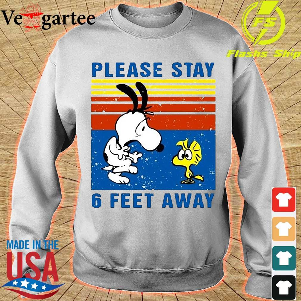 Snoopy and Woodstock please stay 6 Feet away vintage s sweater