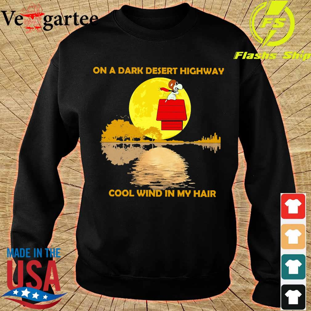 Snoopy On a dark desert highway cool wind in my hair s sweater