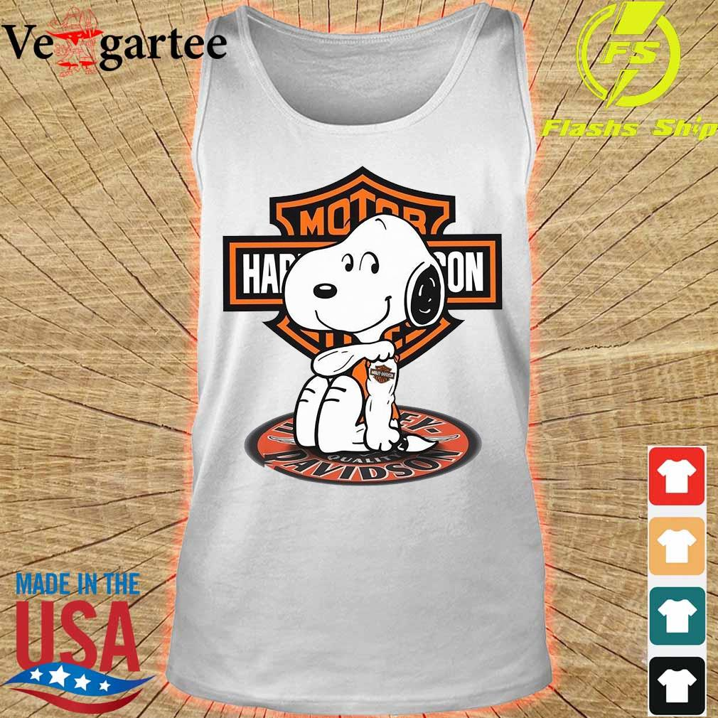 Snoopy tattoo Motor Harley Davidson Shirt tank top