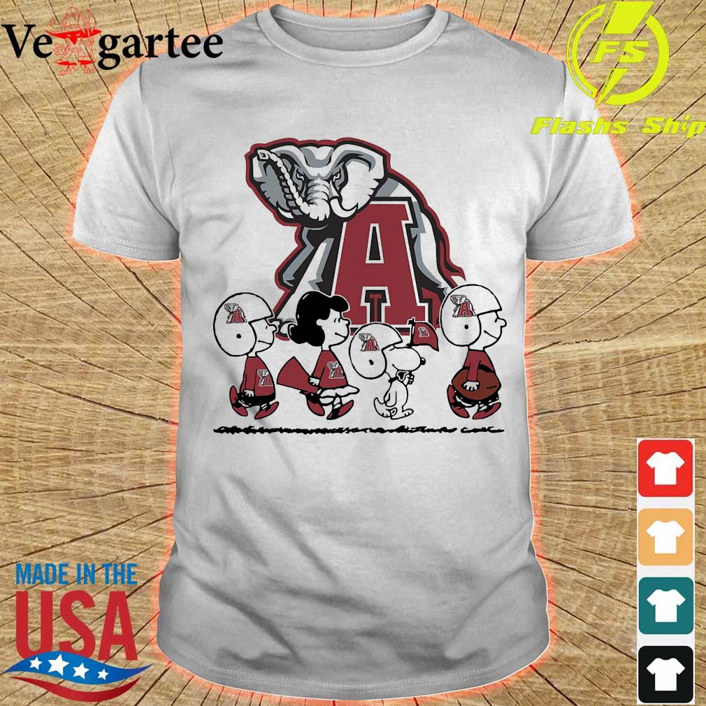 Snoopy The Peanuts Alabama Crimson Tide football shirt