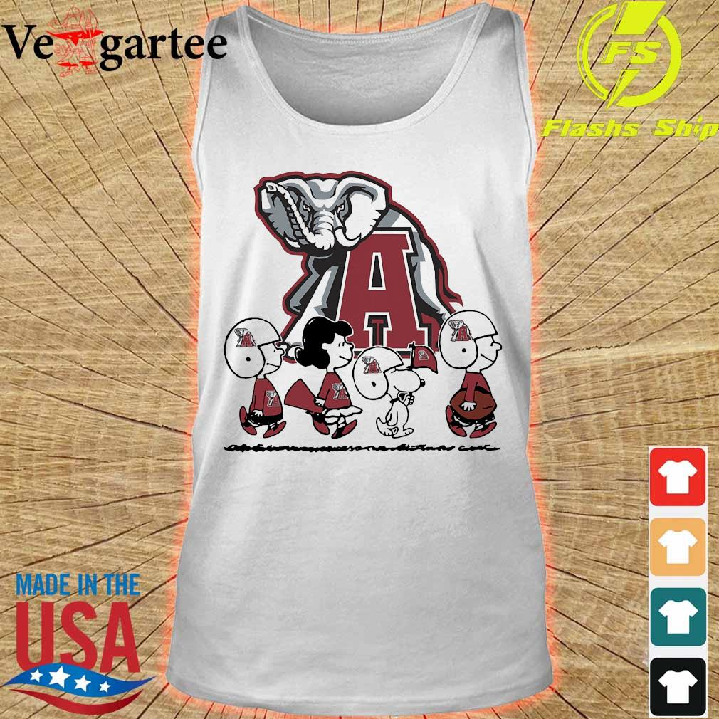 Snoopy The Peanuts Alabama Crimson Tide football s tank top