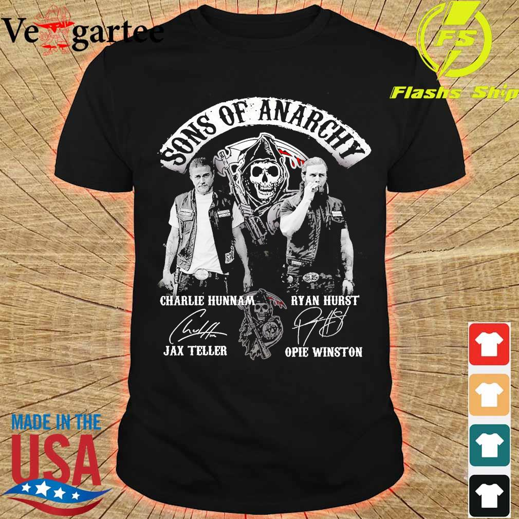 Sons of anarchy characters signatures shirt