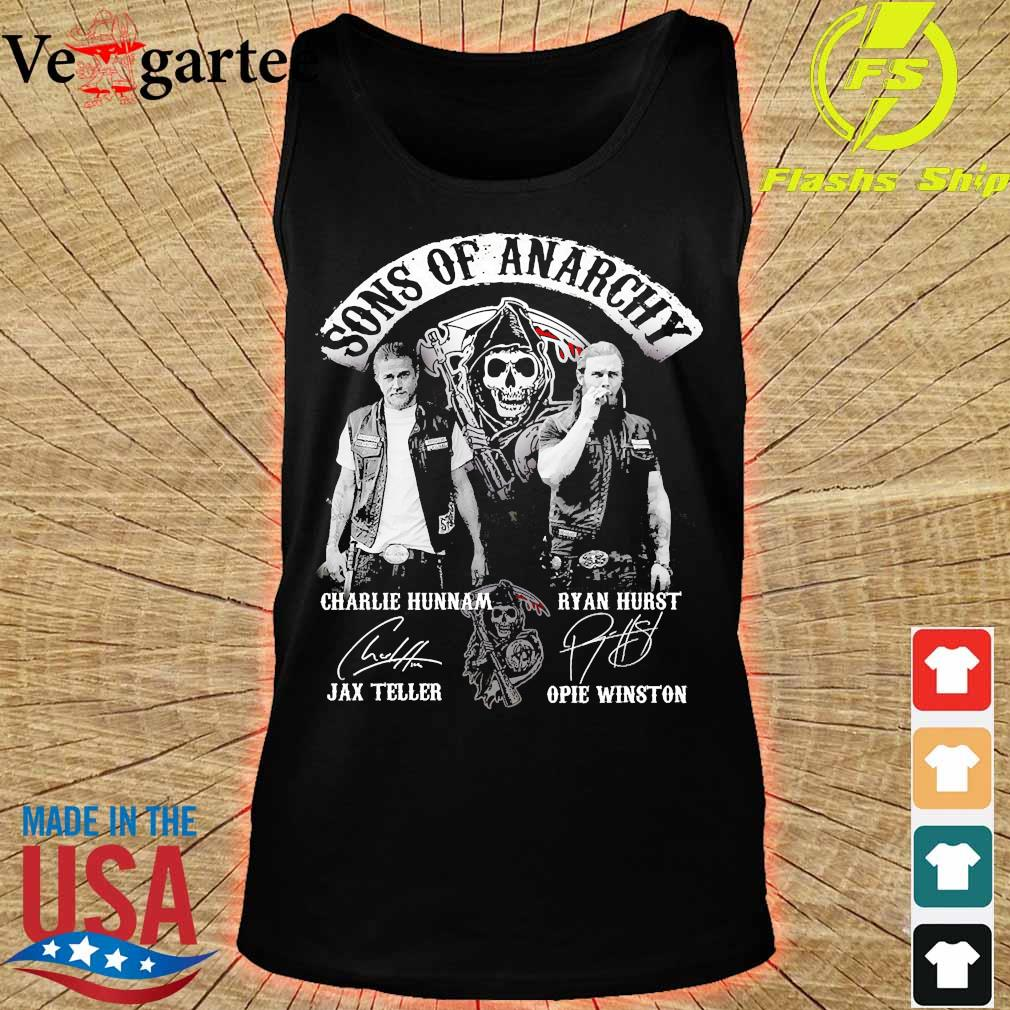 Sons of anarchy characters signatures s tank top