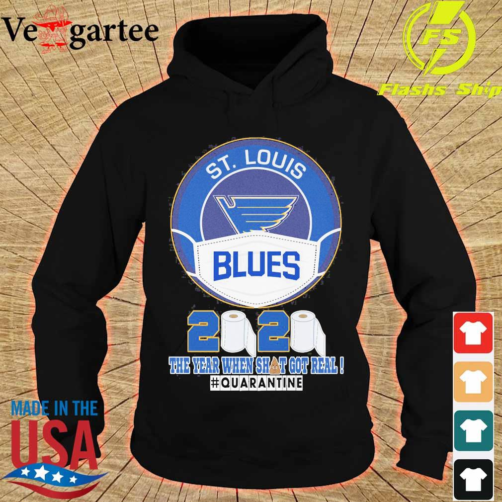 ST Louis Blues face mask 2020 the Year when shit got real quarantine s hoodie
