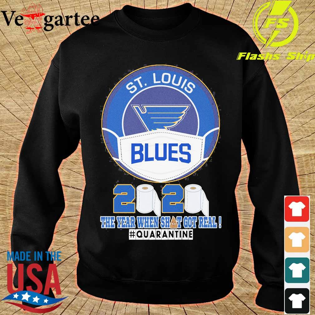 ST Louis Blues face mask 2020 the Year when shit got real quarantine s sweater