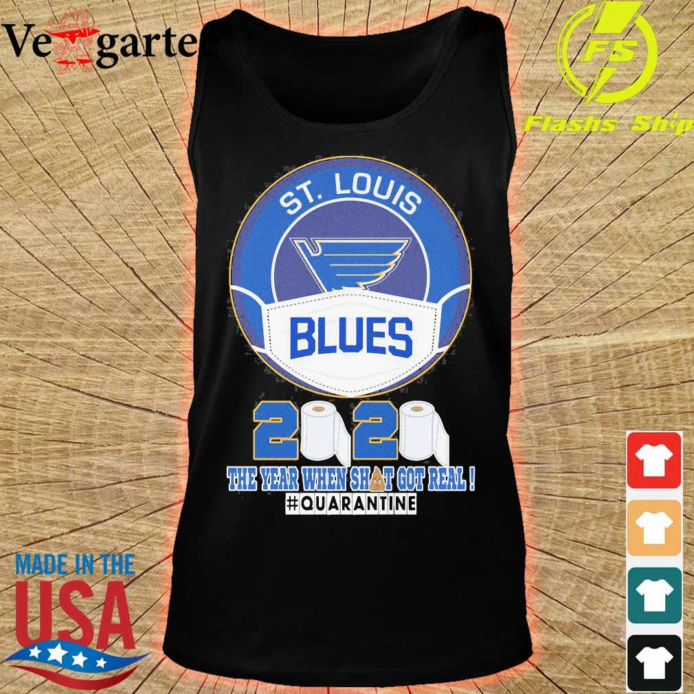 ST Louis Blues face mask 2020 the Year when shit got real quarantine s tank top