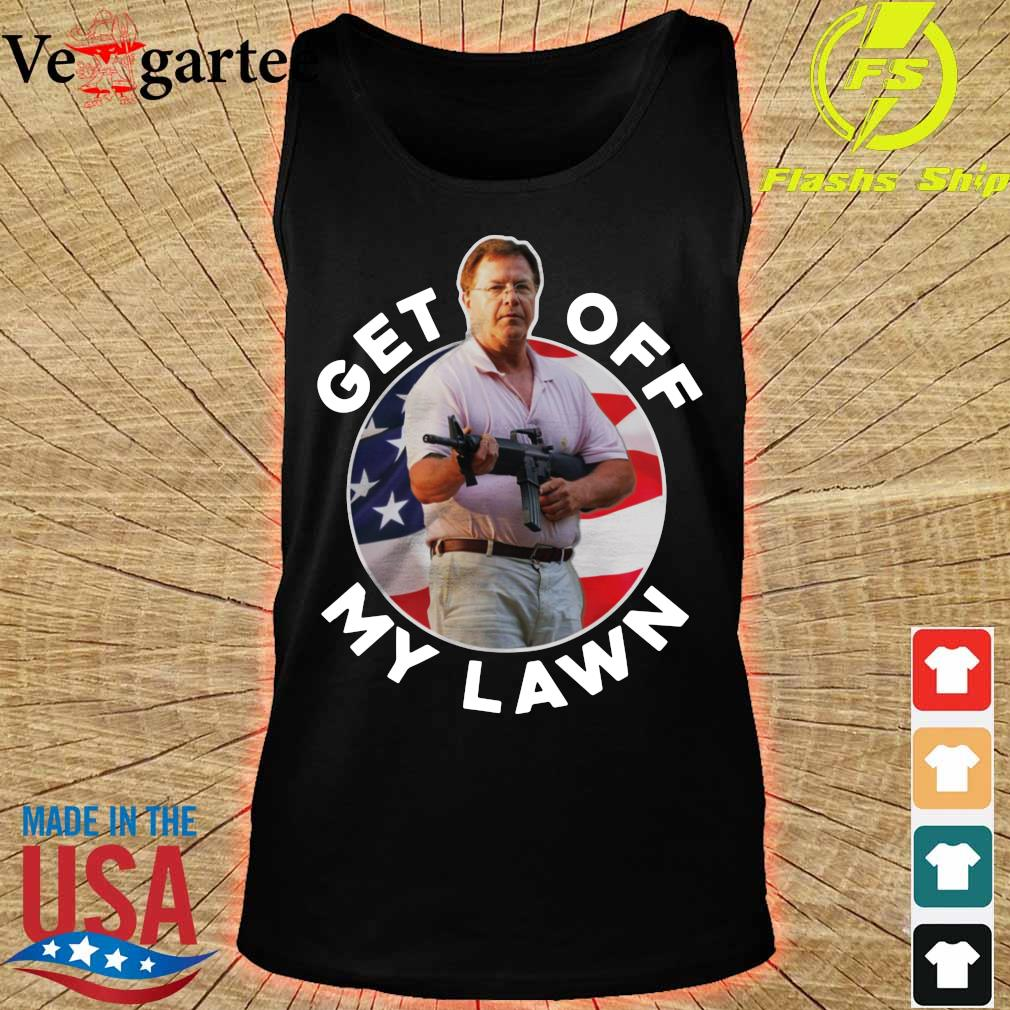 ST Louis Couple Guns get out off my lawn s tank top