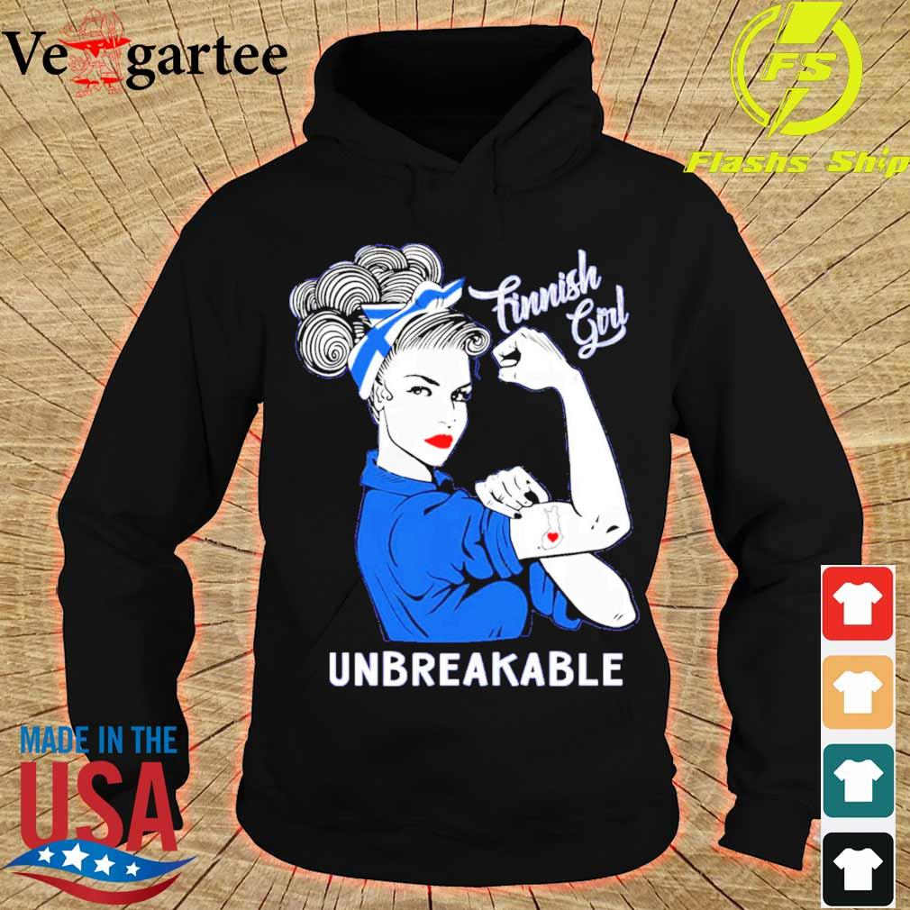 Strong Woman tattoo Finnish Girl unbreakable s hoodie