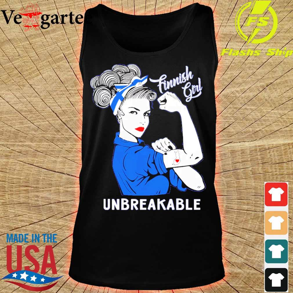 Strong Woman tattoo Finnish Girl unbreakable s tank top