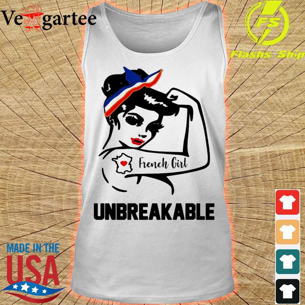 Strong Woman tattoo French Girl unbreakable s tank top
