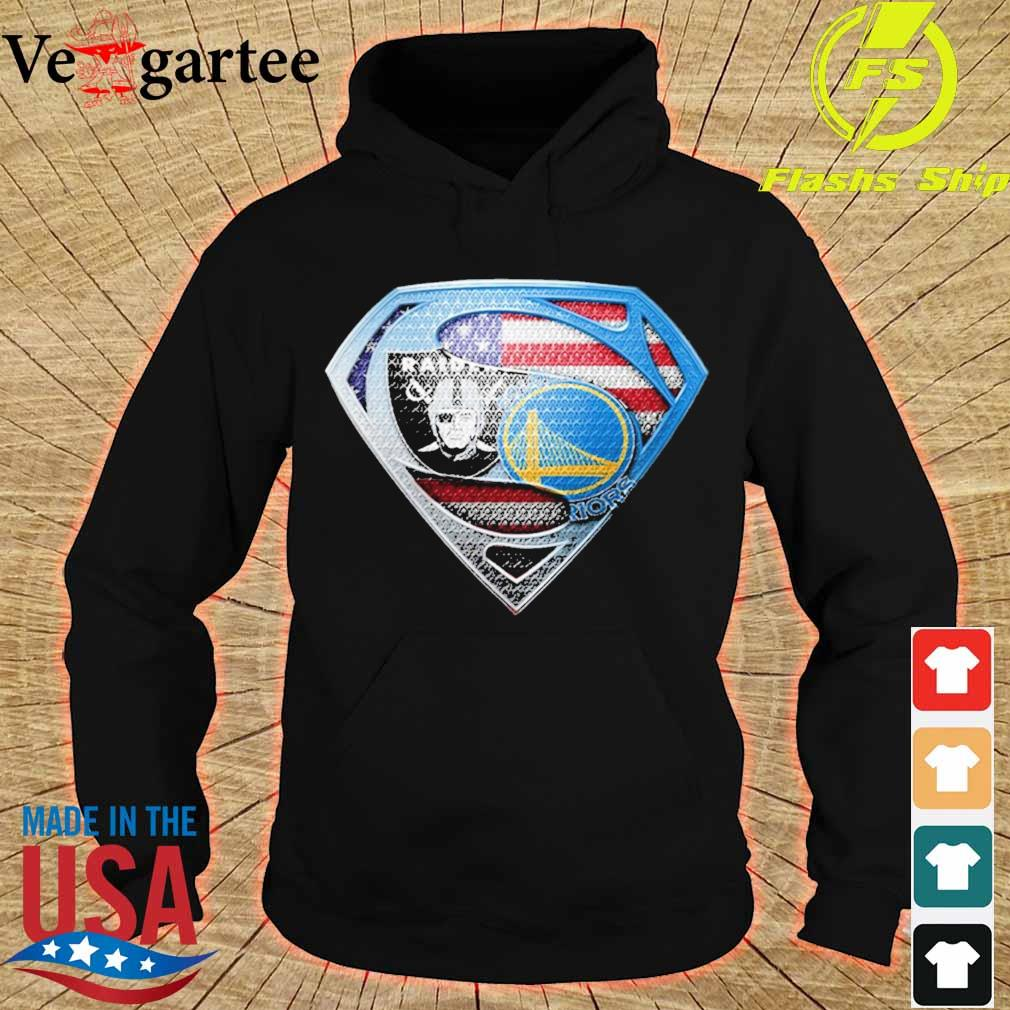 Superman Golden state Warriors and Oakland Raiders s hoodie