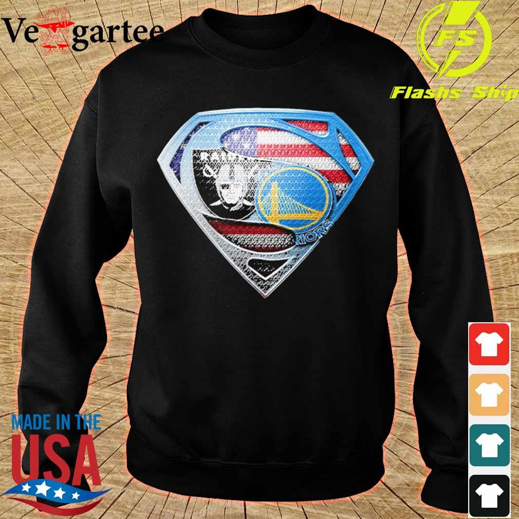 Superman Golden state Warriors and Oakland Raiders s sweater