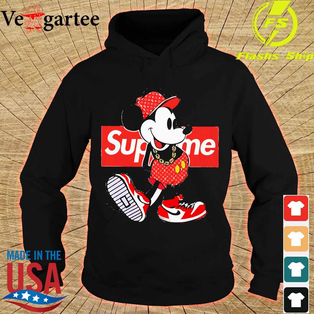 Supreme x Mickey Mouse Youth s hoodie