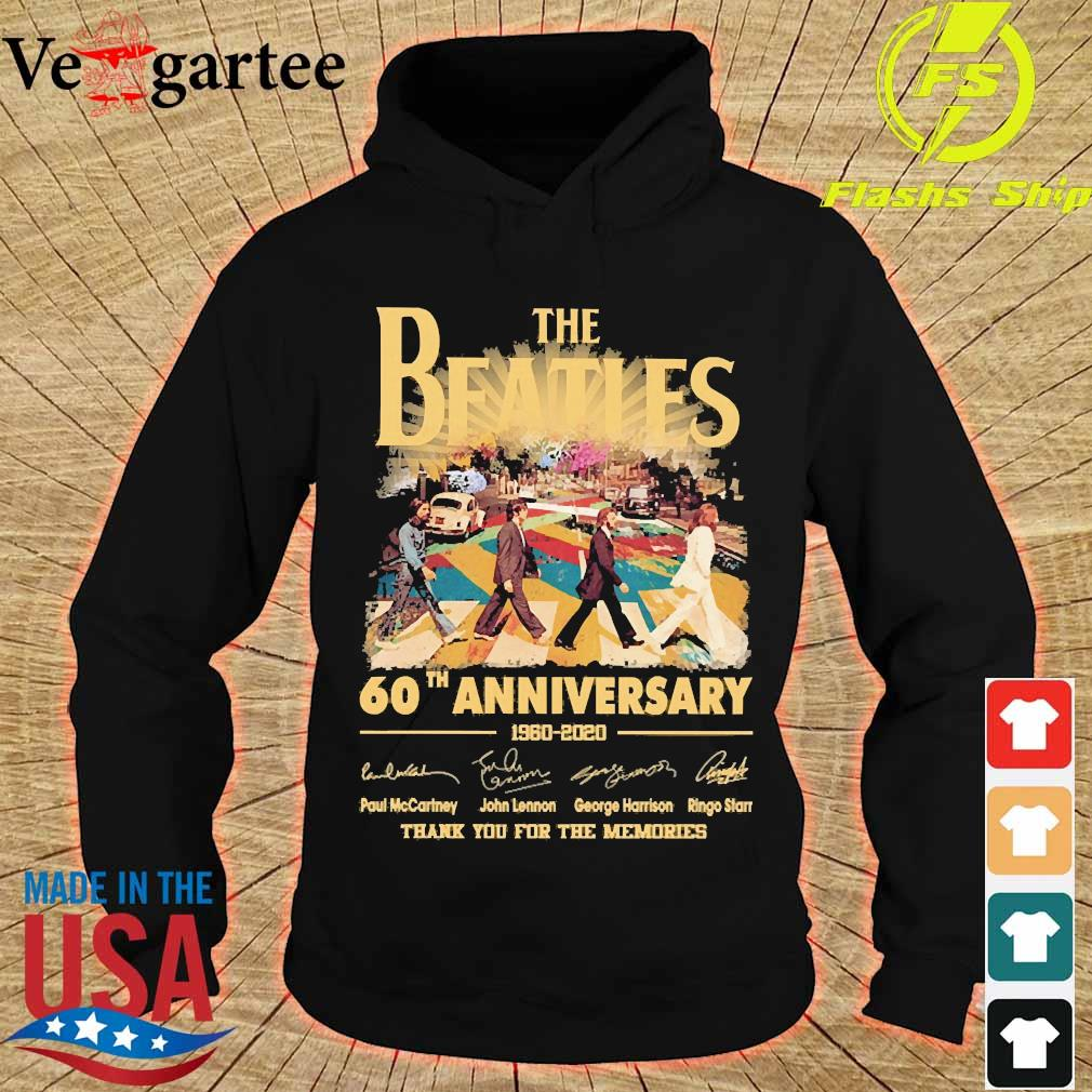The Beatles 60th anniversary 1960 2020 thank You for the memories signatures s hoodie
