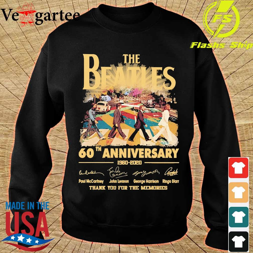 The Beatles 60th anniversary 1960 2020 thank You for the memories signatures s sweater
