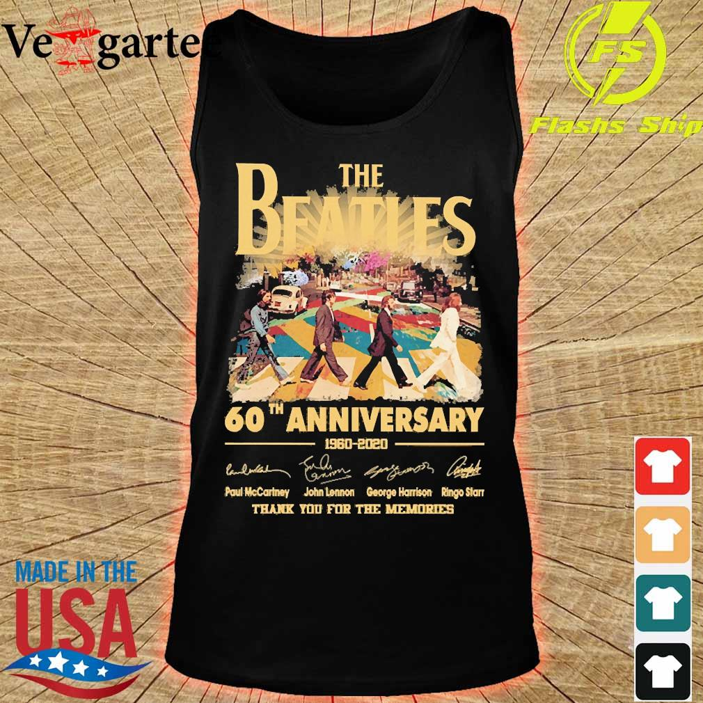 The Beatles 60th anniversary 1960 2020 thank You for the memories signatures s tank top
