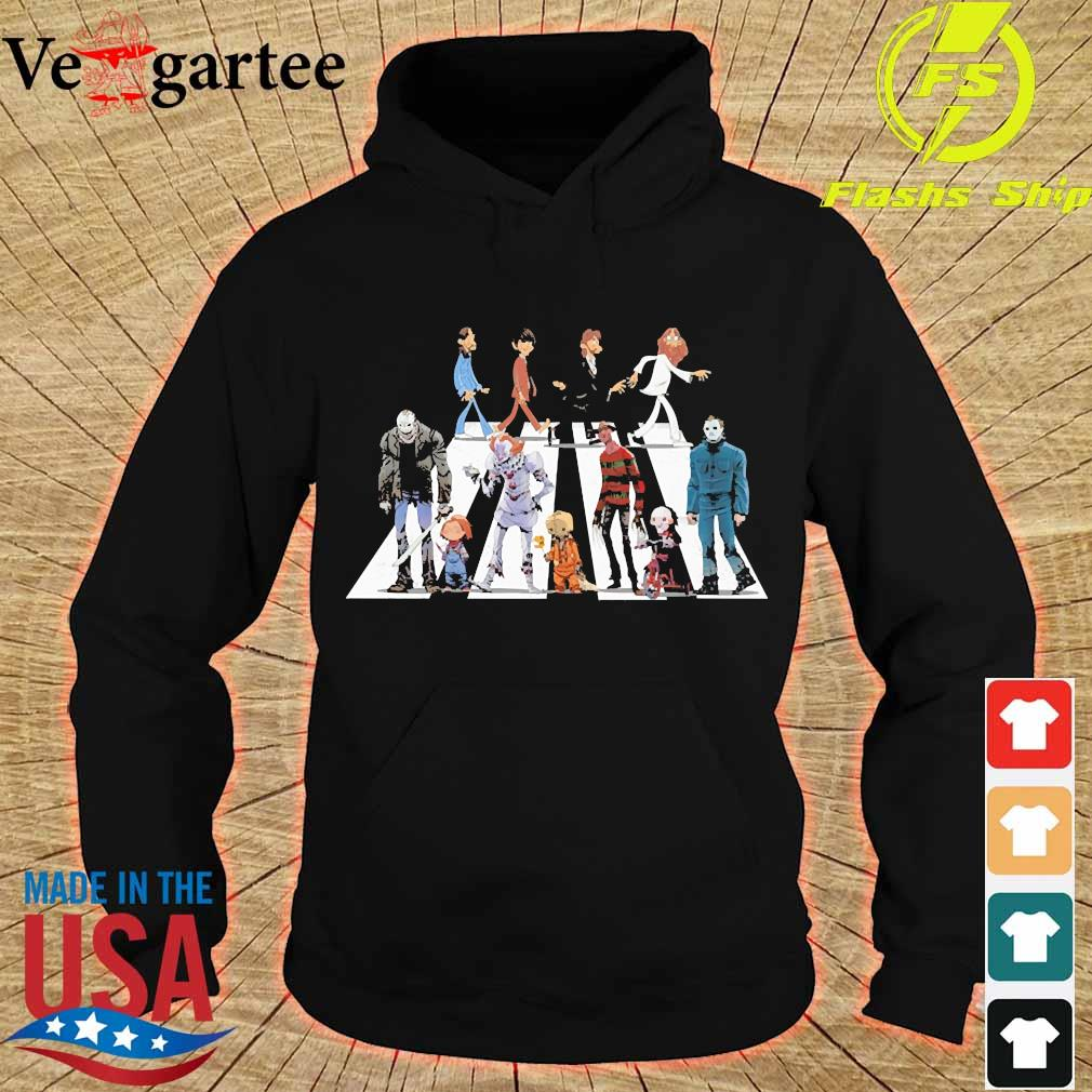 The Beatles and Horror Characters Abbey Road s hoodie