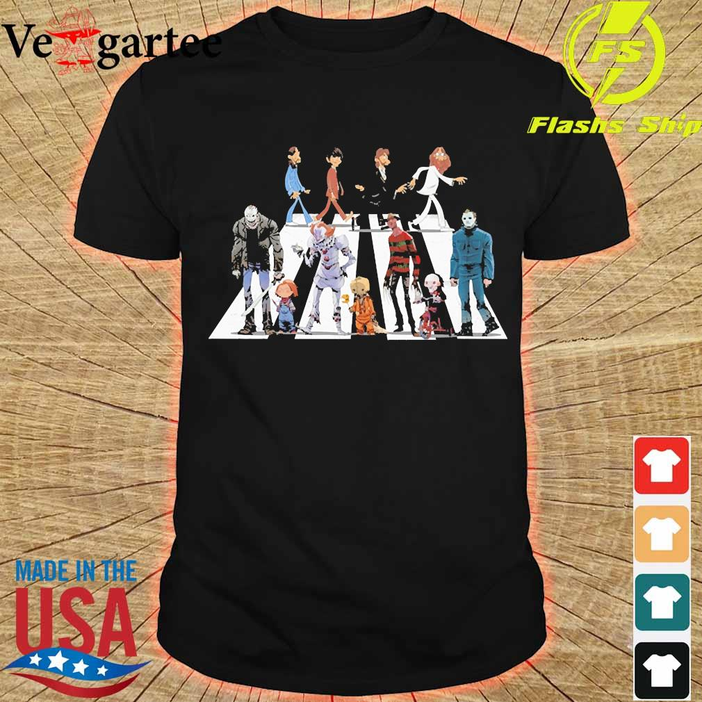 The Beatles and Horror Characters Abbey Road shirt