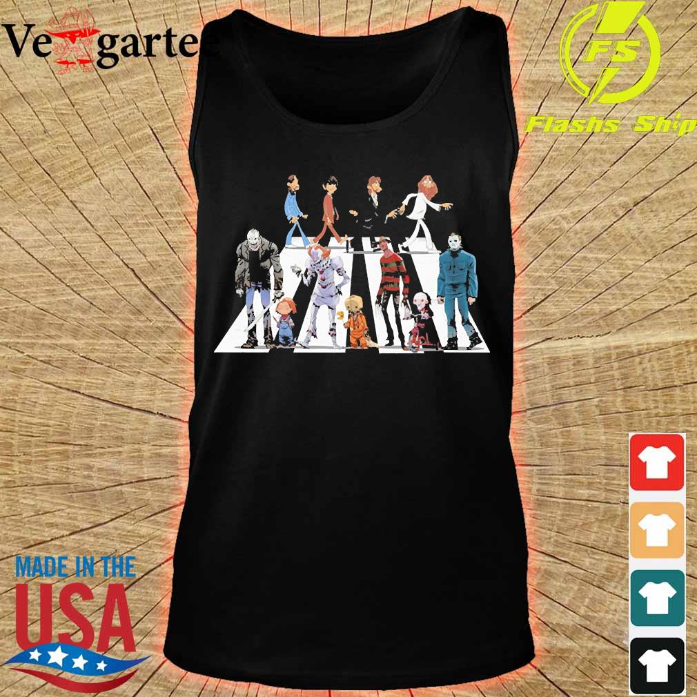 The Beatles and Horror Characters Abbey Road s tank top