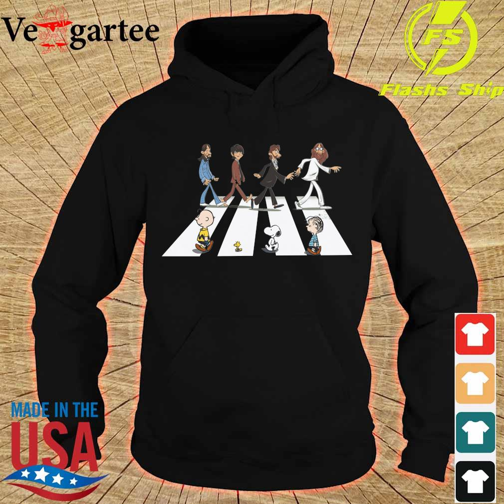 The Beatles members and the Peanuts Abbey road s hoodie