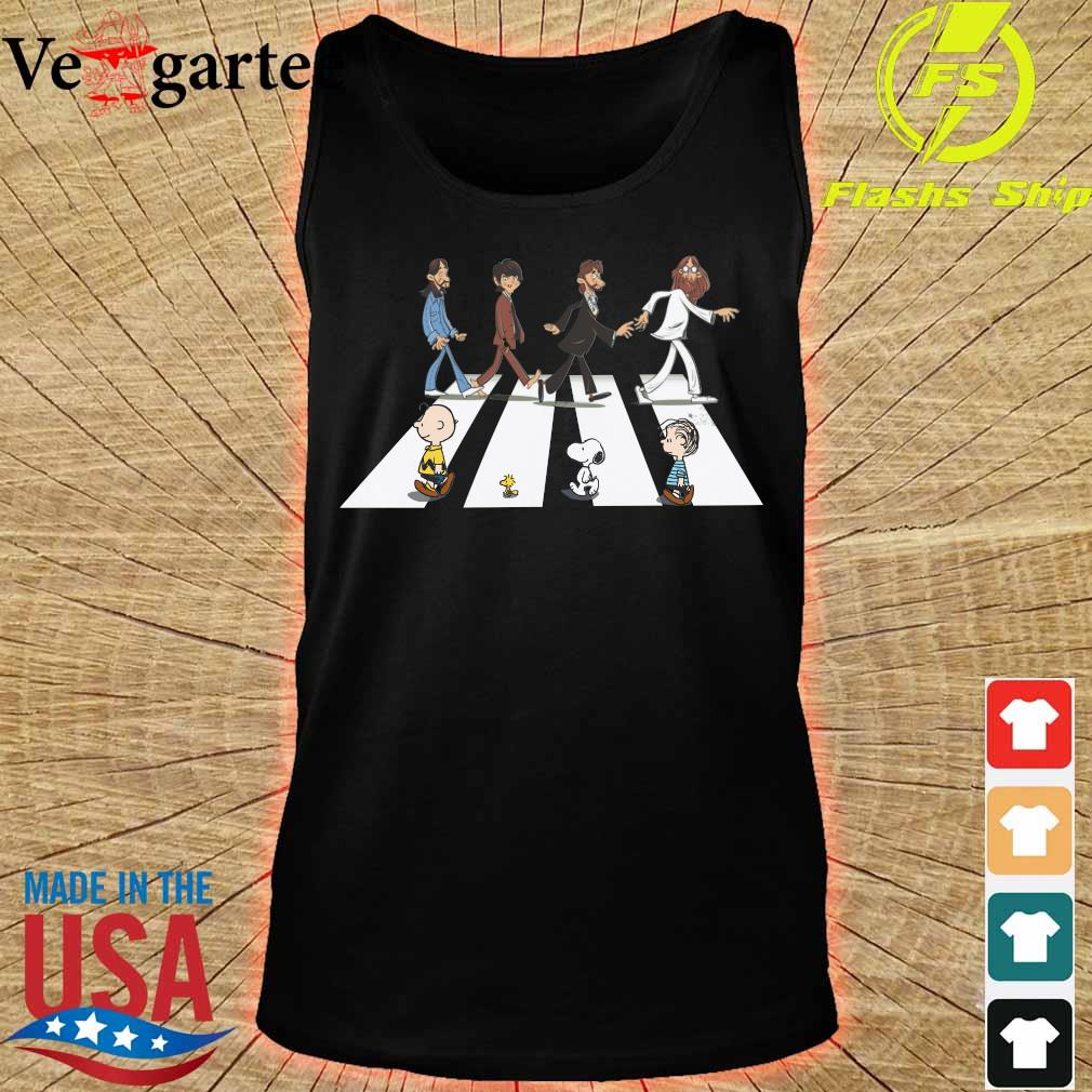 The Beatles members and the Peanuts Abbey road s tank top
