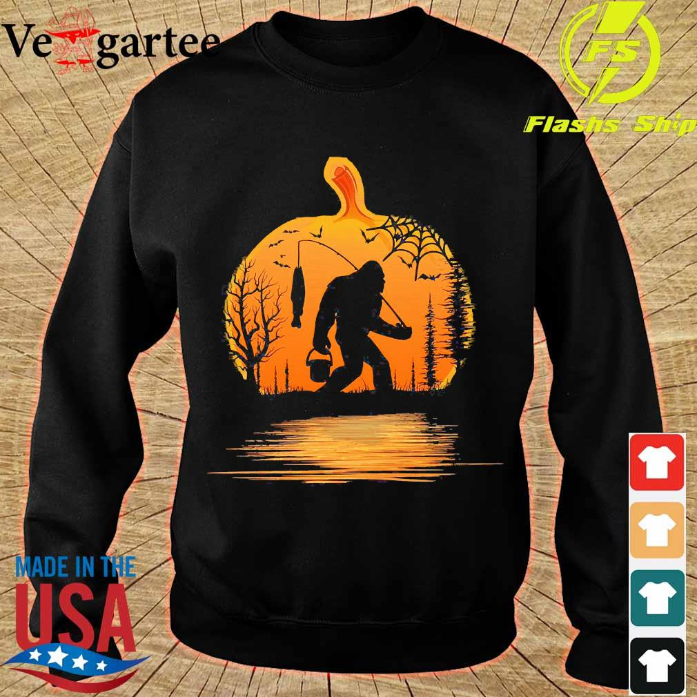 the Bigfoot go fishing and halloween pumpkin s sweater