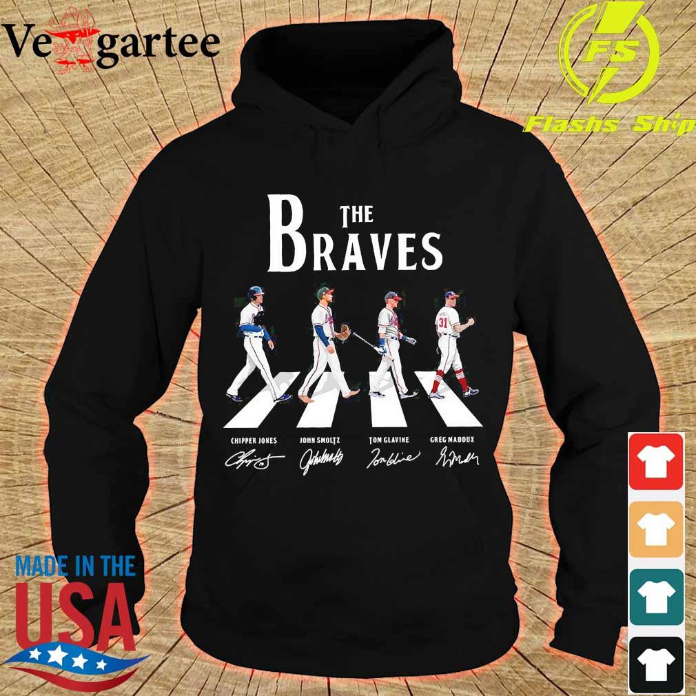 The Braves walking abbey road signatures s hoodie