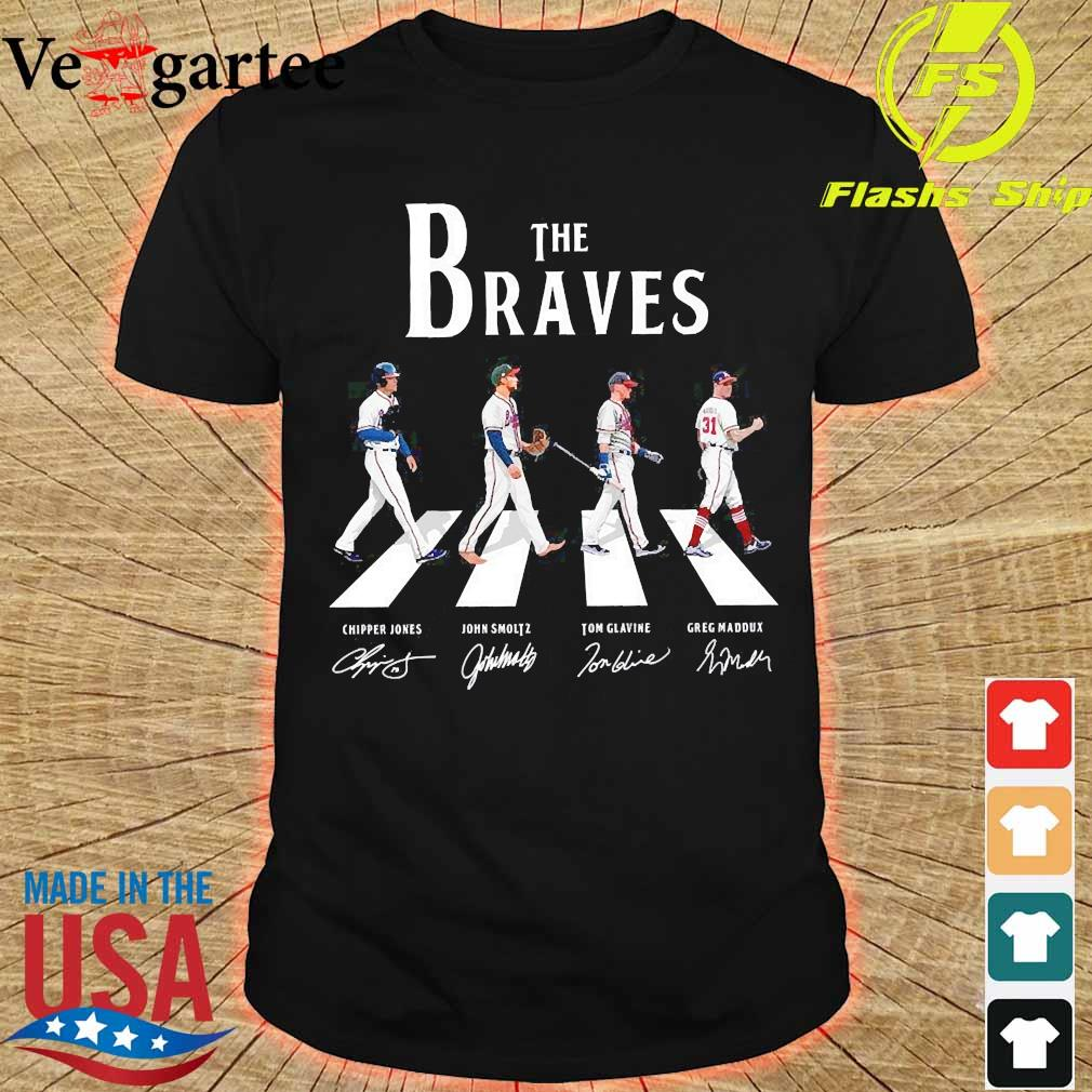 The Braves walking abbey road signatures shirt