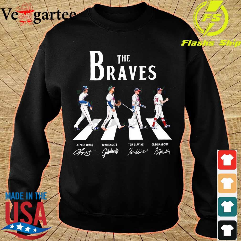 The Braves walking abbey road signatures s sweater
