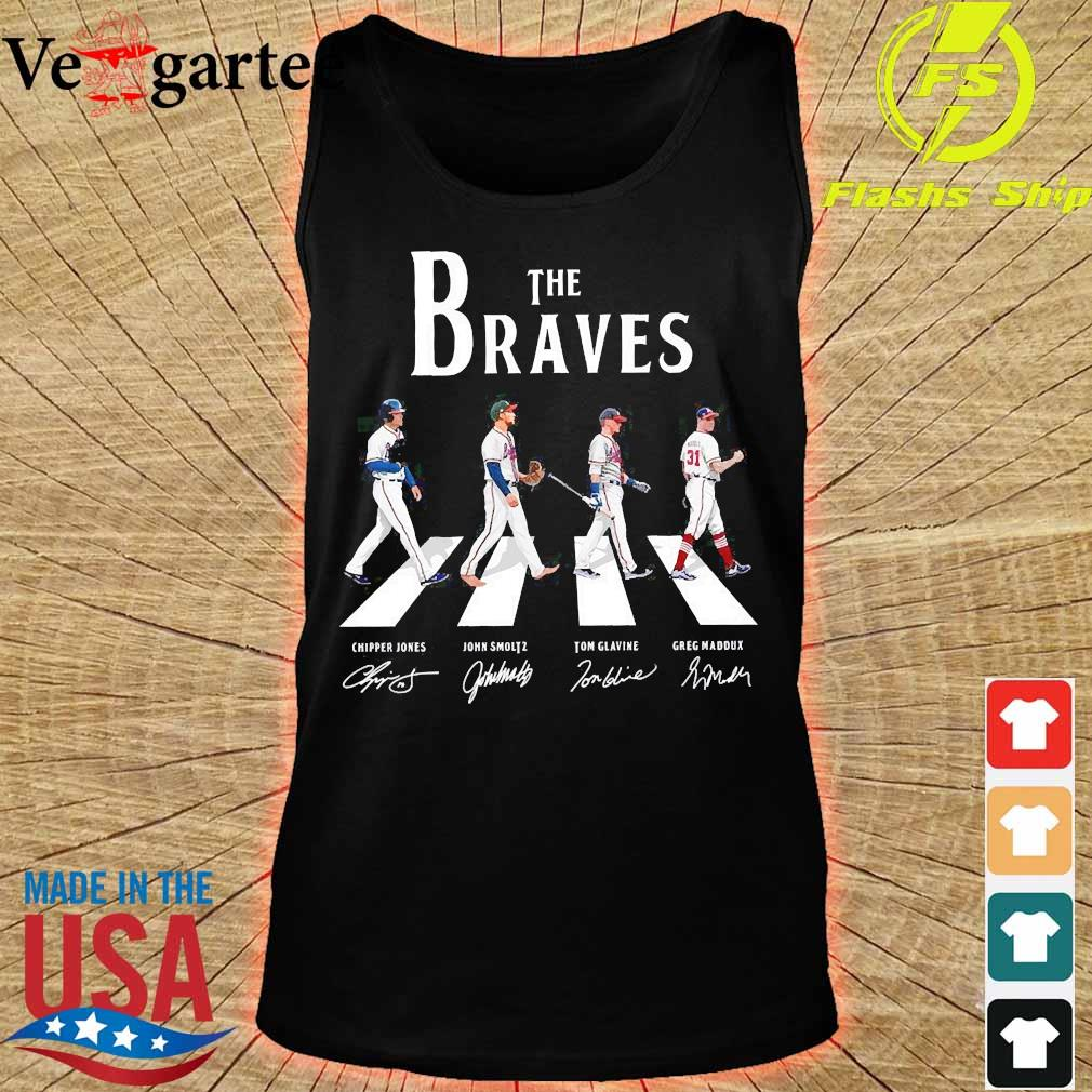 The Braves walking abbey road signatures s tank top