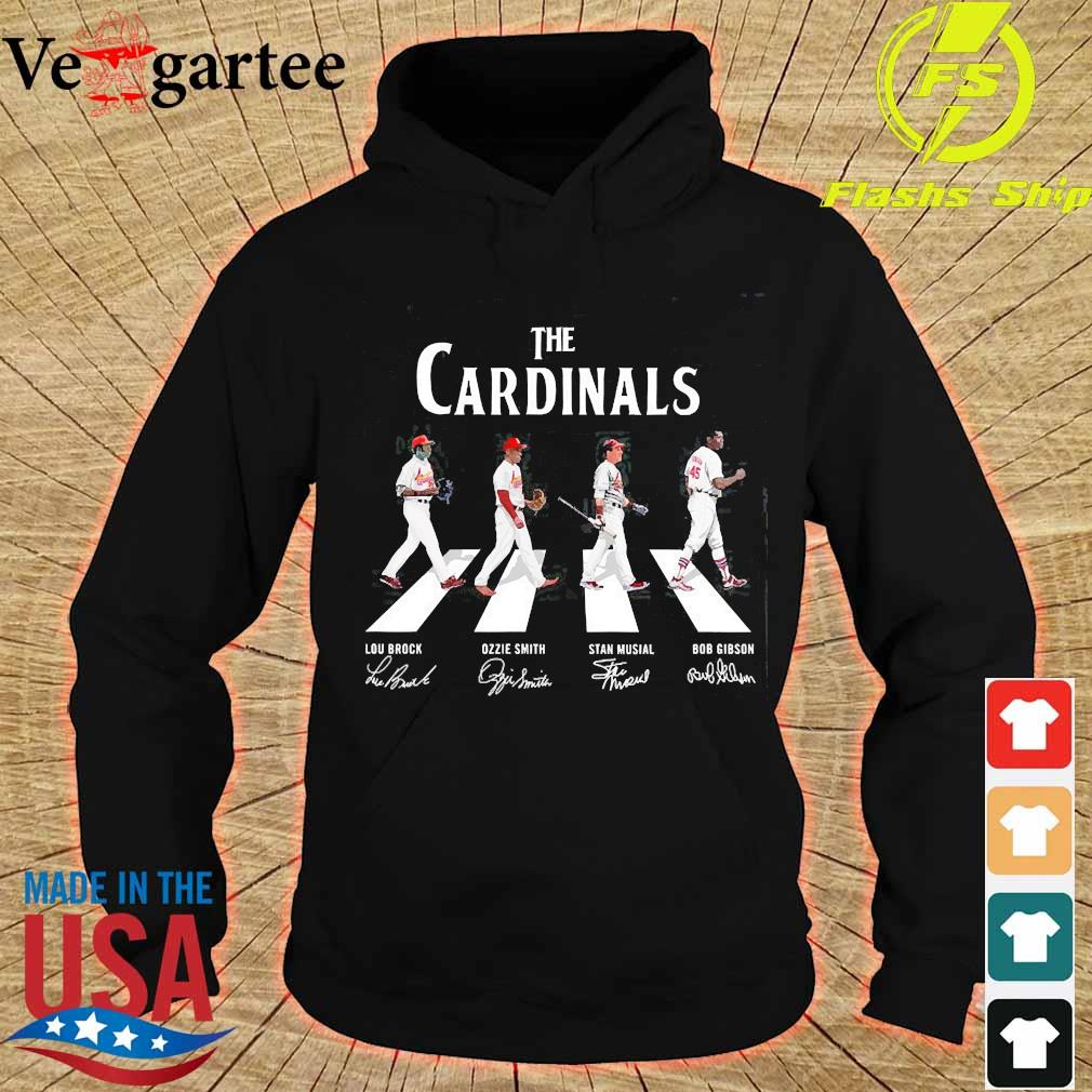 The Cardinals walking abbey road signatures s hoodie