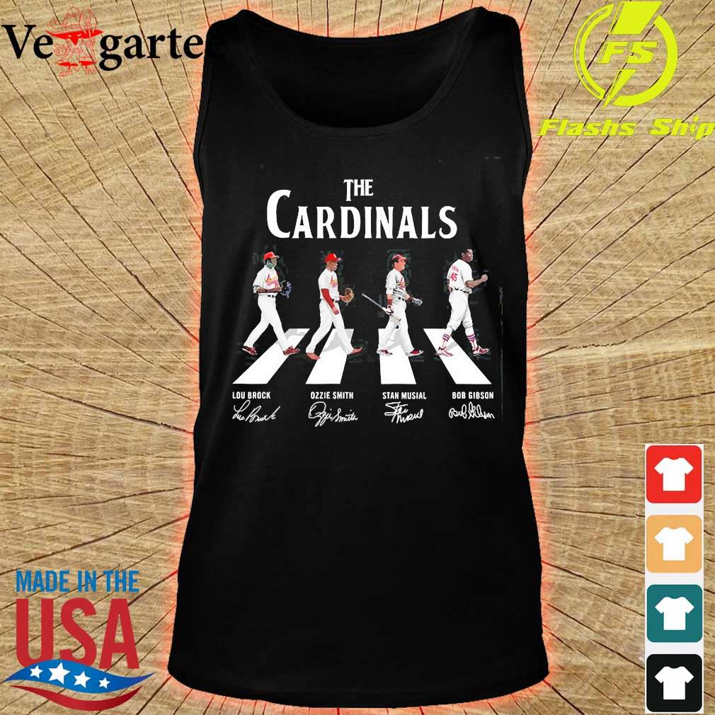 The Cardinals walking abbey road signatures s tank top