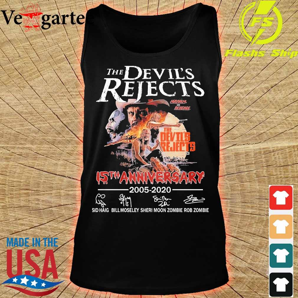 The devil's Rejects 15th anniversary 2005 2020 signatures s tank top
